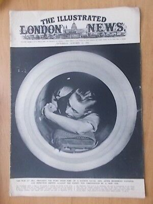 WWII ILLUSTRATED LONDON NEWS - OCTOBER 11th 1941 - BOMBER COMMAND CONTROL CENTRE