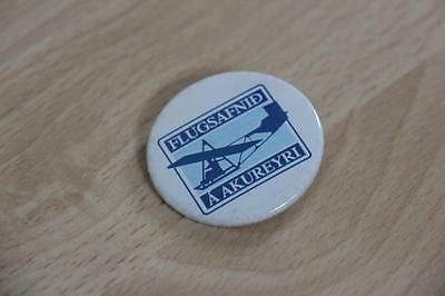 Badge / Button Flugsafnid A Akureyri