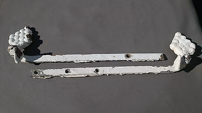 PAIR Exterior shutter hardware scroll plate mount shutter dog stay wrought iron