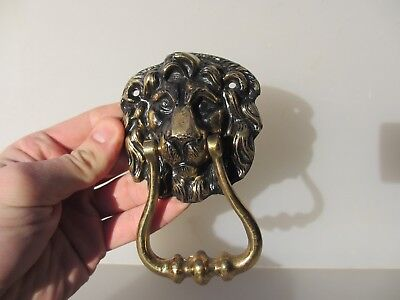 Brass Lion Head Door Knocker Lions Architectural Antique  STYLE Old