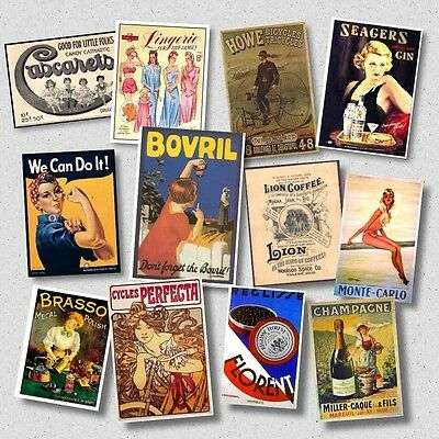 6000 OLD ADVERTISING POSTERS Werbung & Reklame 1900-1980  Photo Collection