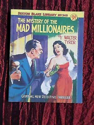 A Vintage Sexton Blake Library-Pulp# 343- The Mystery Of The Mad Millionaires