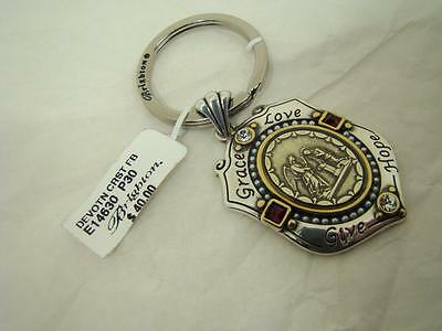 Brighton  Devotion  Christ  Key Fob $40  New With Tag  With Script On Back