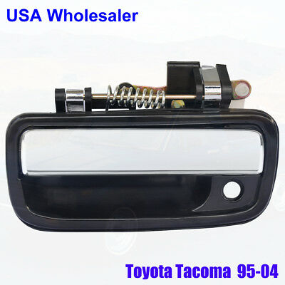 Exterior Door Handle  Front Driver Side Black/Chrome For 95-04 Toyota Tacoma