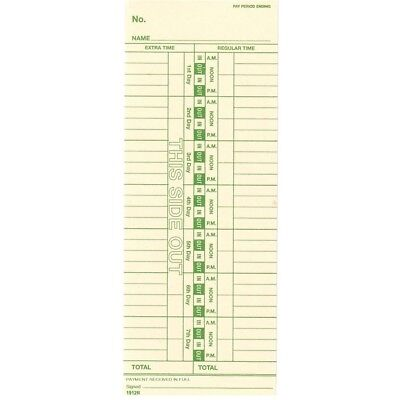 1000 Weekly Time Cards for Side-Feed Time Clocks Replaces Simplex Form 1950-9305