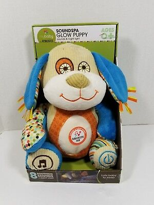 homedics mybaby soundspa glow puppy sound night light plush