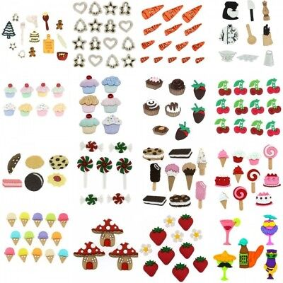 Dress It Up Buttons Embellishment Food Baking Cakes Sweets Cocktails Biscuits
