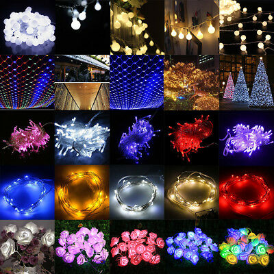 2M~10M 20~100 LED String Fairy Lights Battery Operated Wedding Party Room Decor