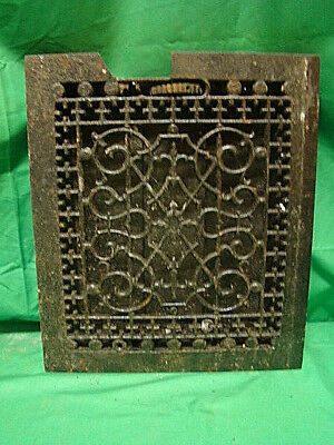 Antique Late 1800's Cast Iron Heating Grate Unique Ornate Design 14 X 12   F
