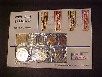 1967 Hutt Comm. Western Samoa R No. 513 Apia Uncirculated First Coinage S124 Ld