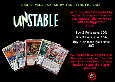 MTG Unstable UST Choose your Mythic or Rare Foil - New - Buy 2 or more Save 10%