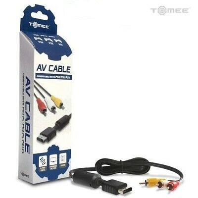 Tomee Playstation PS1 / PS2 / PS3 Video Game Console / Systems AV RCA Cable