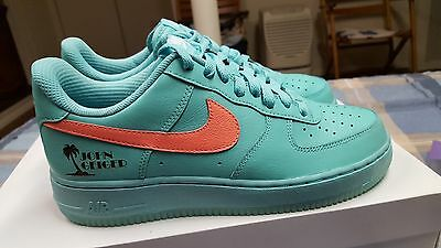 100% Authentic John Geiger Nike Air Force 1 Low Miami  1 of 30 Pairs U.S. Size 7