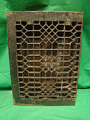 Antique Late 1800's Cast Iron Heating Grate Unique Ornate Design 13.75 X 10   F