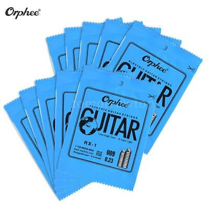 Orphee 10Pcs Electric Guitar String 1st E-String (.009) Nickel Alloy New T0O4
