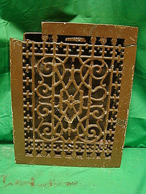 Antique Late 1800's Cast Iron Heating Grate Unique Ornate Design 13.75 X 11   F
