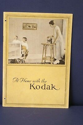 F66123~ At Home With The Kodak – 1924 – Crisp & Clean - 32 Pages