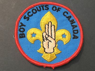 Boy Scouts Of Canada  Salute Embroidered Symbol Patch Cubs