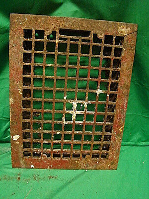 Vintage 1920S Cast Iron Heating Grate Cover Square Design 15.75 X 12 A