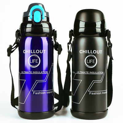 Stainless Steel Insulated Travel Thermos Coffee Mug Flask Beverage Water Bottle