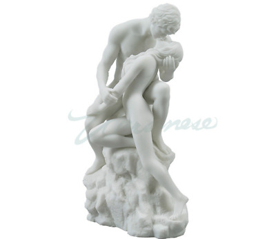 The Lovers White Statue Sculpture Figure  - WE SHIP WORLDWIDE