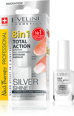 Total Aktion 8 in 1 Nail Conditioner mit Silver Partikeln, 12 ml