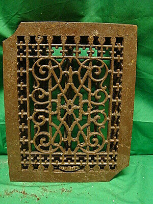 Antique Late 1800's Cast Iron Heating Grate Unique Ornate Design 13.75 X 10.75 Z