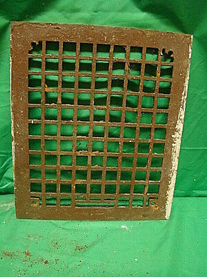 Vintage 1920S Cast Iron Heating Grate Cover Square Design 14 X 12