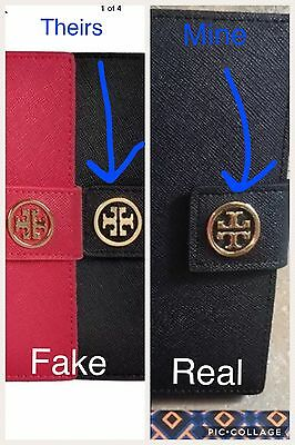 GENUINE Tory Burch Black Robinson York Saffiano Leather Passport Case Wallet NEW