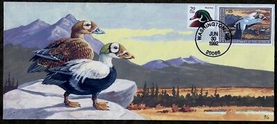 GARY DAVIS H/D, Hand Painted : 1992 Federal Duck with $15 Stamp and Only 10 Made