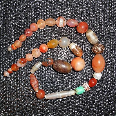 GORGEOUS MIXED NECKLACE! Collection of ancient Indo-Tibetan beads