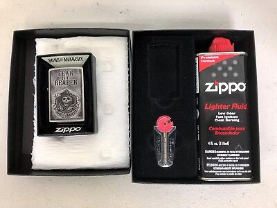 Zippo Sons of Anarchy Fear the Reaper Pocket Lighter+Slim Gift Kit (no lighter)