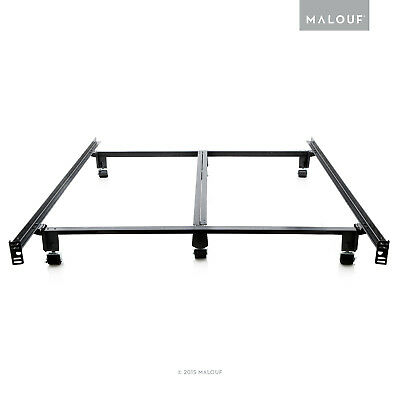 Structures Low Profile 8 Leg Heavy Duty Bed Frame Wheels King Queen