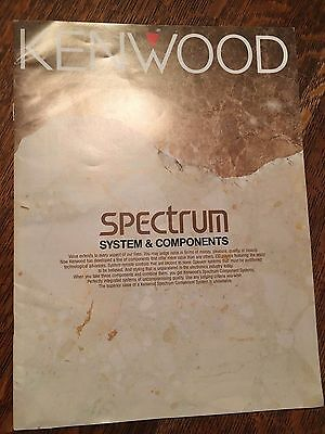 Kenwood 90's Spectrum Audio System & Components Manuals