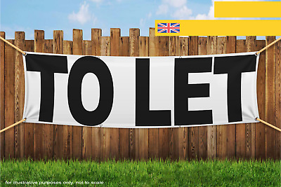 To Let Black White Heavy Duty PVC Banner Sign 2514