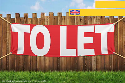 To Let White Red Heavy Duty PVC Banner Sign 2515