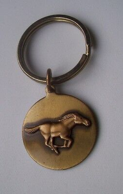 Brass Keyring With A Mustang Horse Design Fob- Inga