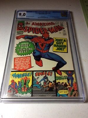 The Amazing Spider-Man #38 (Jul 1966, Marvel) - CGC 9.0 RARE WHITE PAGES