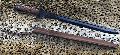 WWI AEF US ARMY M1905 Bayonet Marked RIA 1906 w/M1905 2nd Pat Leather Repo.?