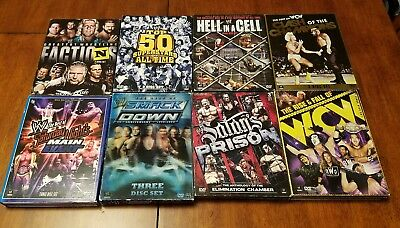 WWE / WCW WRESTLING GREATEST EVENTS DVD's  Lot of 8