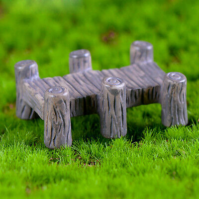 Miniature Dollhouse Fairy Garden Landscape Bonsai Decor 5pcs Wooden Bridge