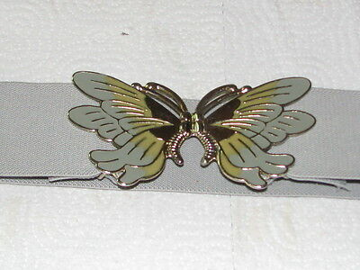 """2745 Adjustable Grey Stretch Belt with Butterfly Buckle, S, 28-36"""" Long"""