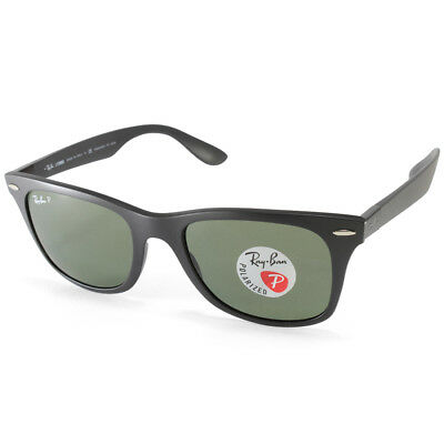 6e6d974cdb Ray-Ban RB4195 601S9A Wayfarer Liteforce Black Green Polarised Sunglasses 52