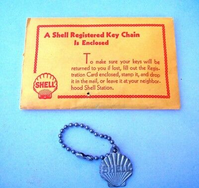 Vintage Shell Oil Key Chain, Unopened In Original Packaging