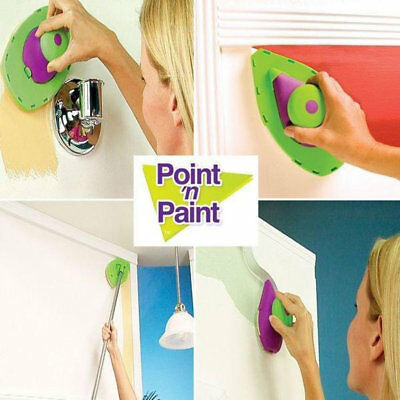 Point And Paint Multifunction Pads DIY Painting Kit Roller Set Room Clean PR