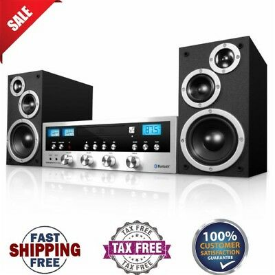 Classic Retro Bluetooth Stereo System With CD Player, FM Reciever Wireless Music