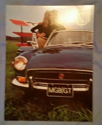Vintage 1971 MG MGB GT Brochure Very Nice Austin British Leyland 6 Pages USA