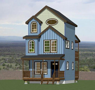 16x16 Tiny House -- 2 bedroom -- 697 sqft -- PDF Floor Plan -- Model 20