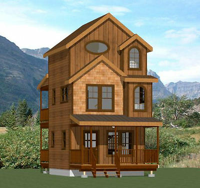 16x16 Tiny House -- 2 bedroom -- 697 sqft -- PDF Floor Plan -- Model 20A