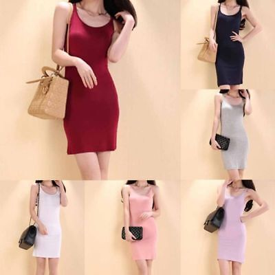 Sexy Women Lady Slim Vest Backless Modal Harness Dress Solid Color Bandage